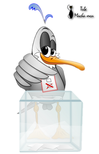 La mouette Open office en png, tube