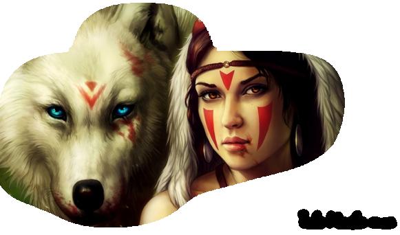femme et loup, tube