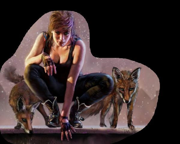 femme et loups